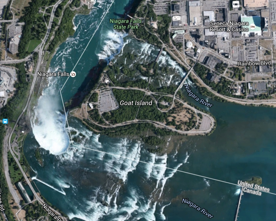 Americans Have Secured Some Area On Their Side And Named It Niagara Falls State Park Canadians Have Put Up A Huge Boardwalk Type Activity Setup On Their